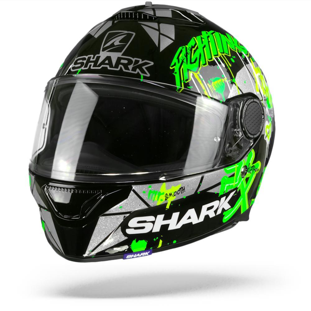 Shark Spartan 1.2 Lorenzo Catalunya GP Casco Integral (Full Face) Negro Verde Escarcha KGX 2XL