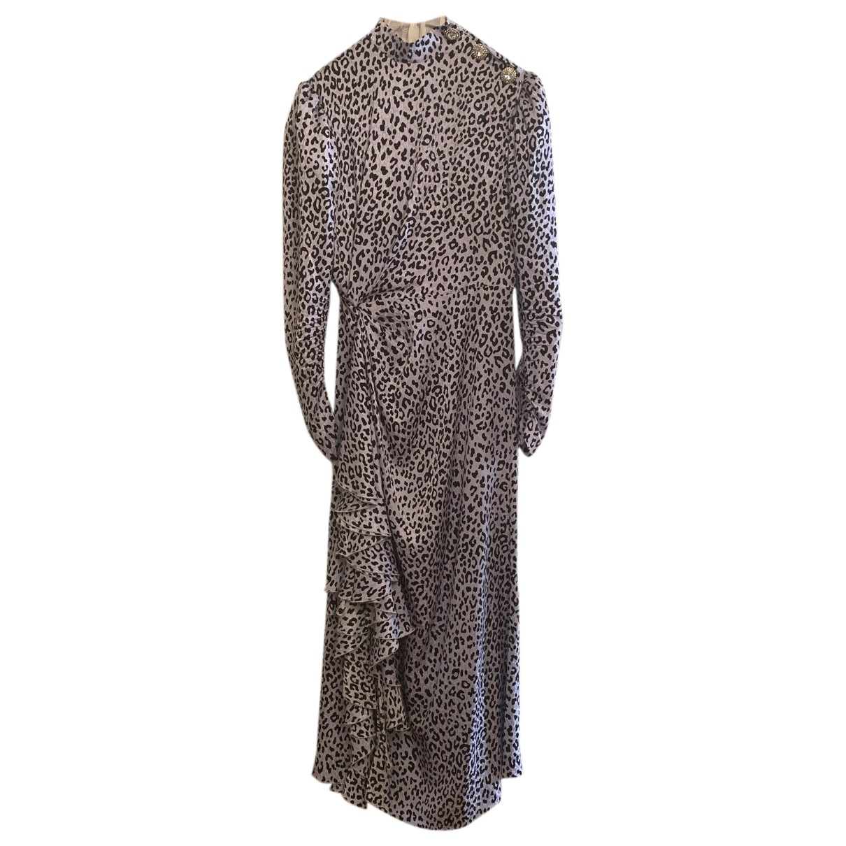 Alessandra Rich \N Kleid in  Tuerkis Seide
