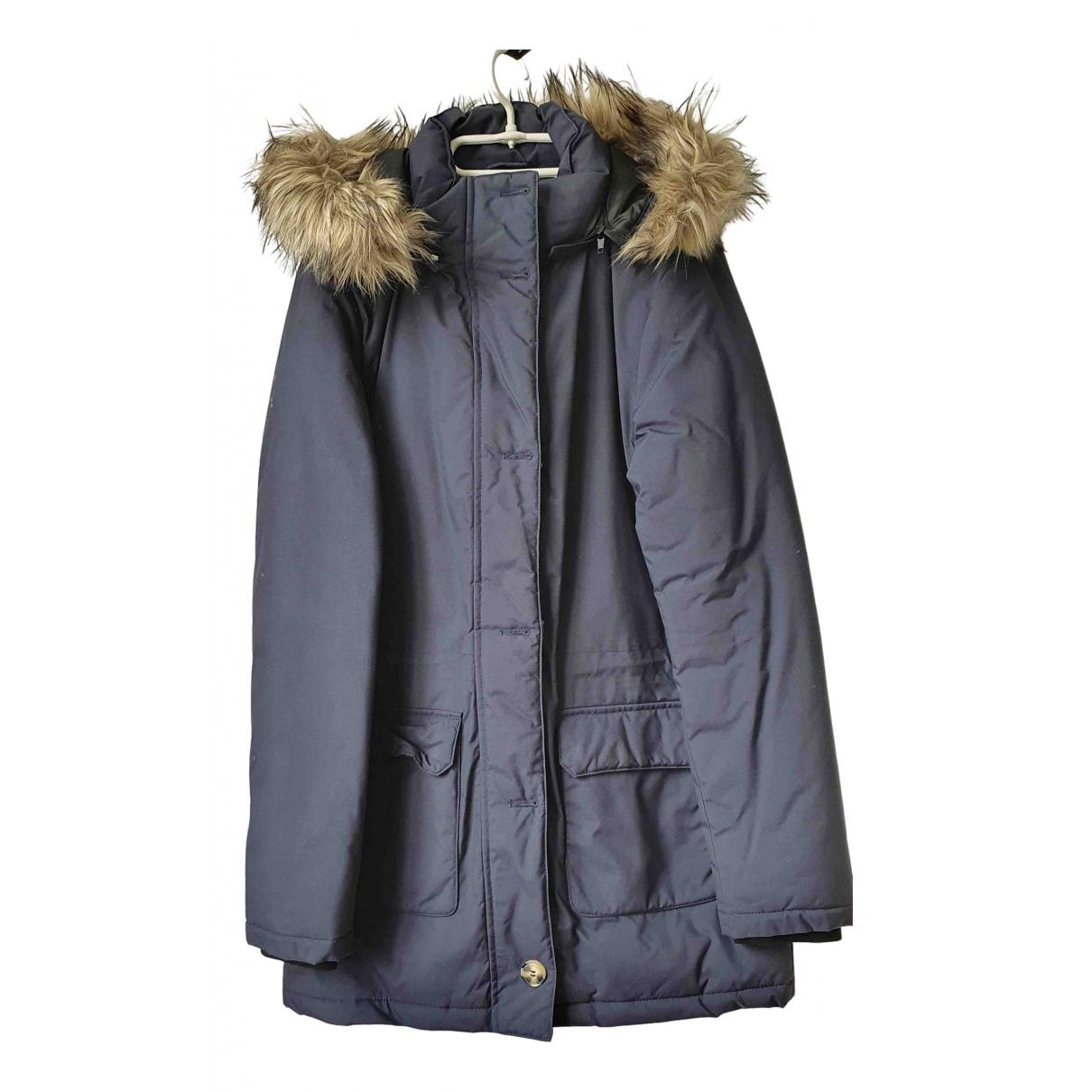 - Manteau   pour femme en coton - marine