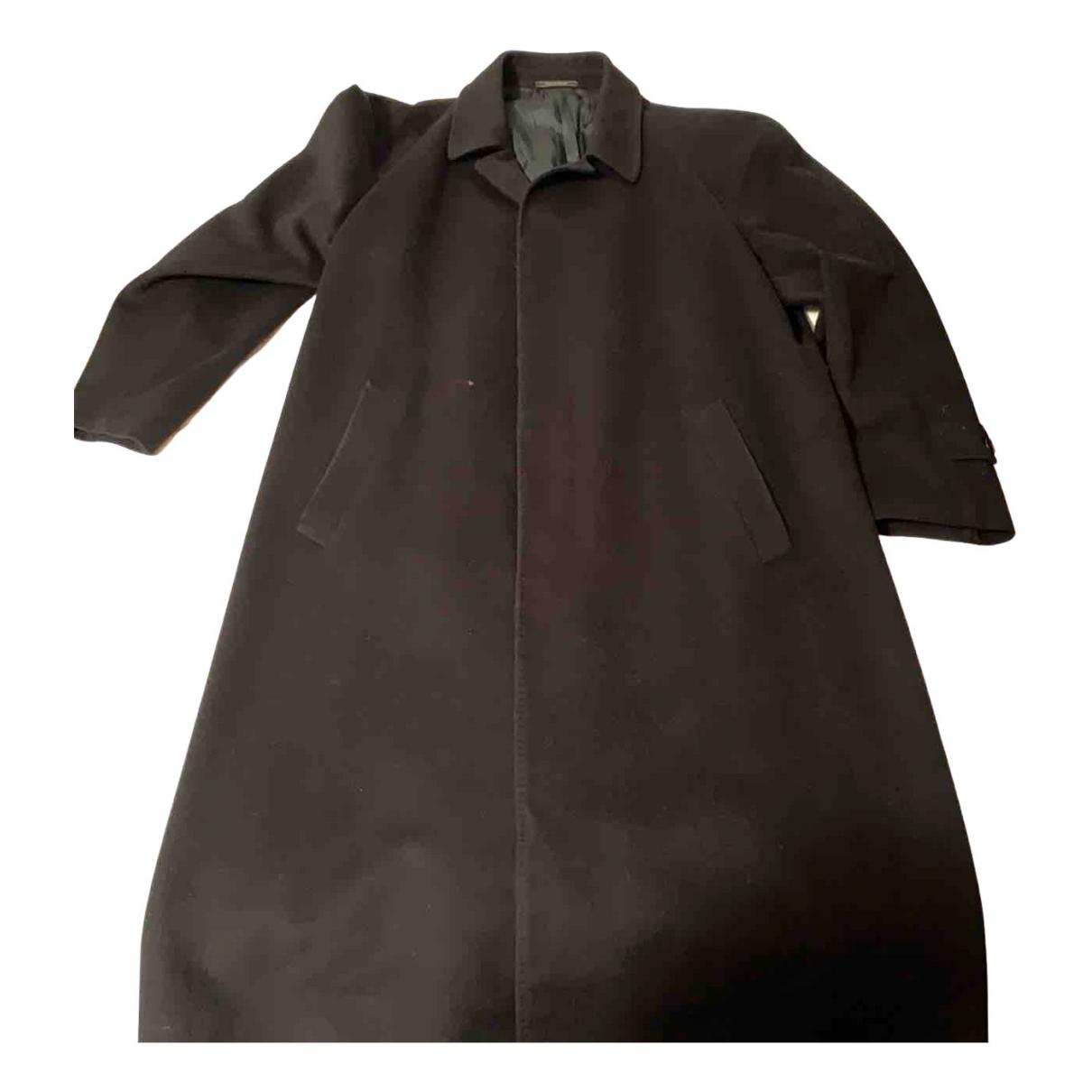 Trussardi - Manteau   pour homme en laine - noir