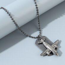 Maenner Halskette mit Flugzeug Dekor
