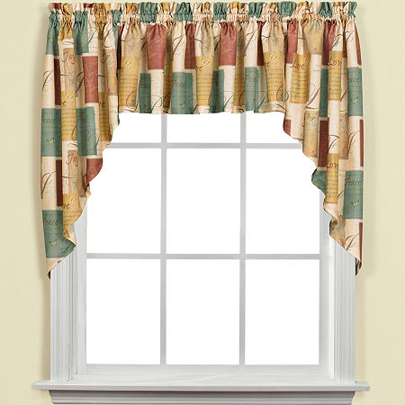 Tranquility Rod-Pocket Swag Valance, One Size , Brown