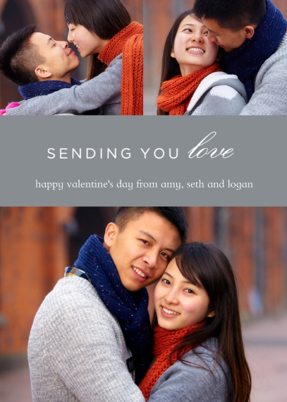 Valentine's Cards 5x7 Cards, Premium Cardstock 120lb with Rounded Corners, Card & Stationery -Sending Love