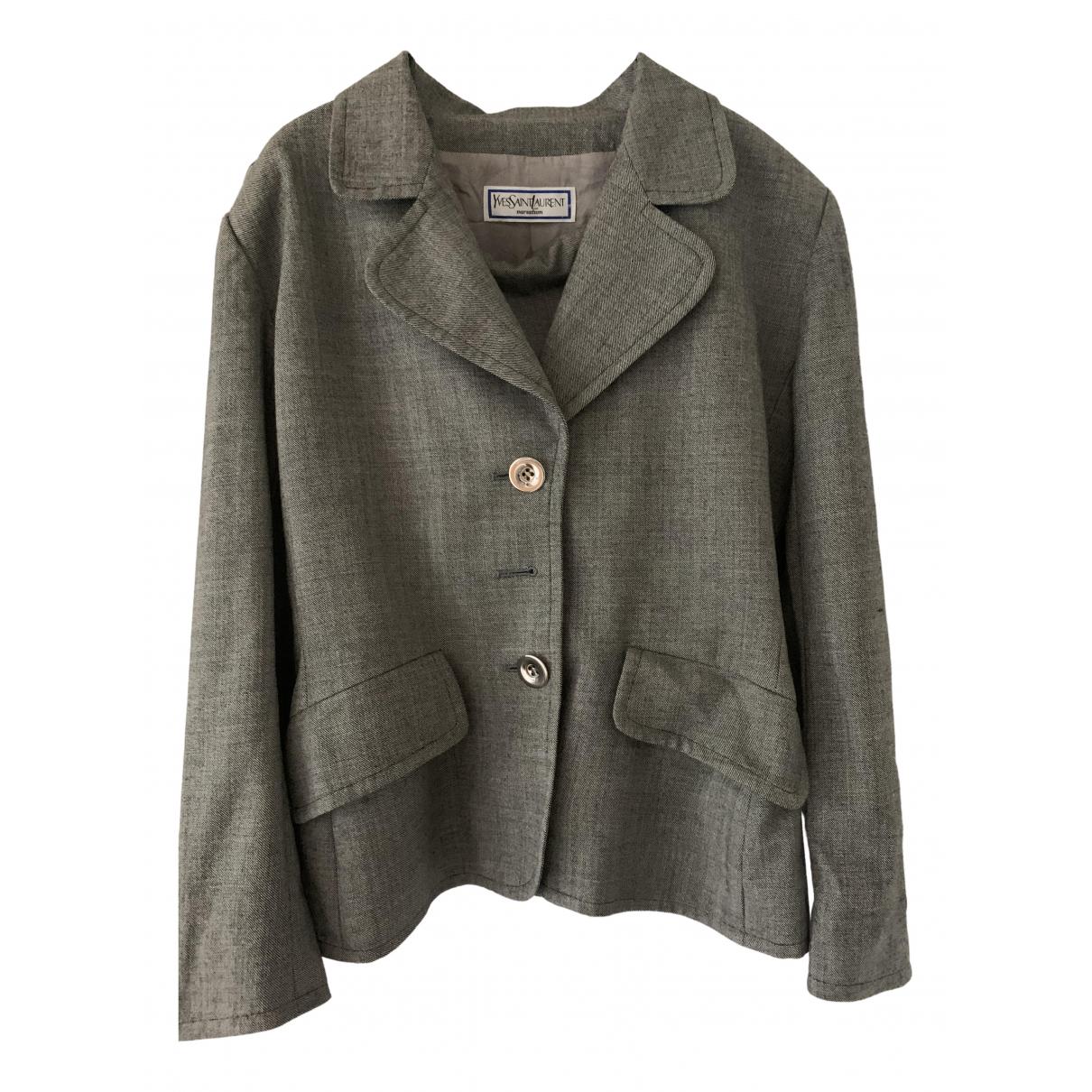 Yves Saint Laurent N Grey Wool jacket for Women 42 FR