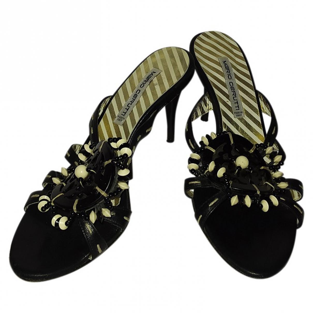 Cerruti \N Sandalen in  Schwarz Leder