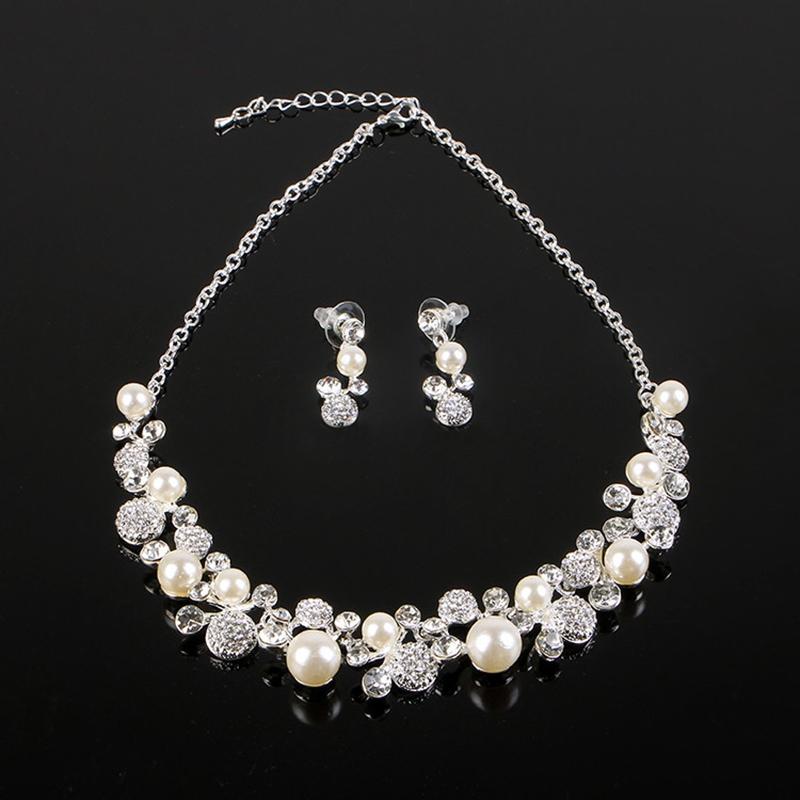 Korean E-Plating Earrings Jewelry Sets (Wedding)