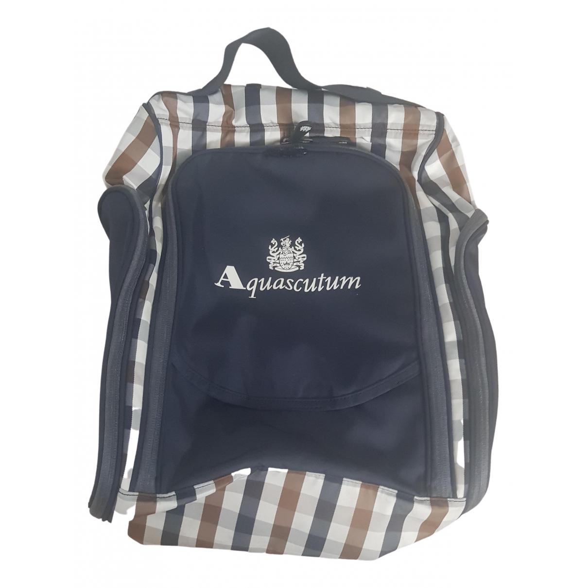 Aquascutum - Sac de voyage   pour femme - bleu
