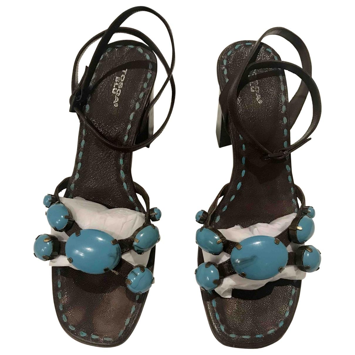 Sandalias de Cuero Tosca Blu