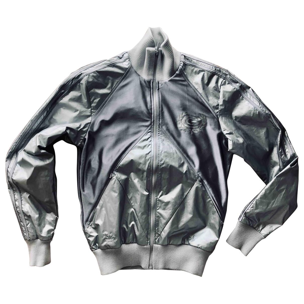 Adidas \N Jacke in  Metallic Synthetik