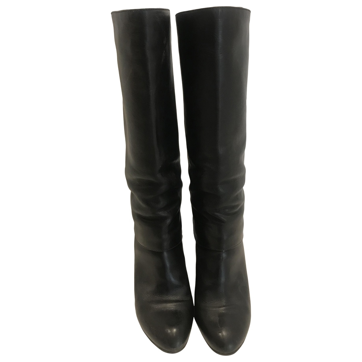 Sergio Rossi \N Black Leather Boots for Women 35.5 IT