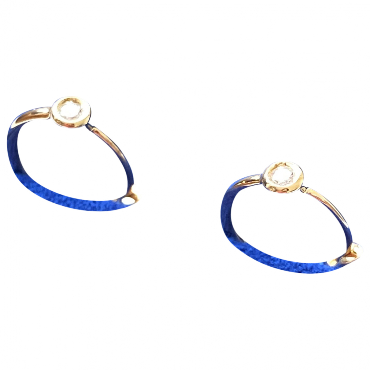 Non Signe / Unsigned Puces en diamants OhrRing in  Gold Gelbgold