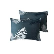 1 par funda de almohada con estampado de hoja sin relleno