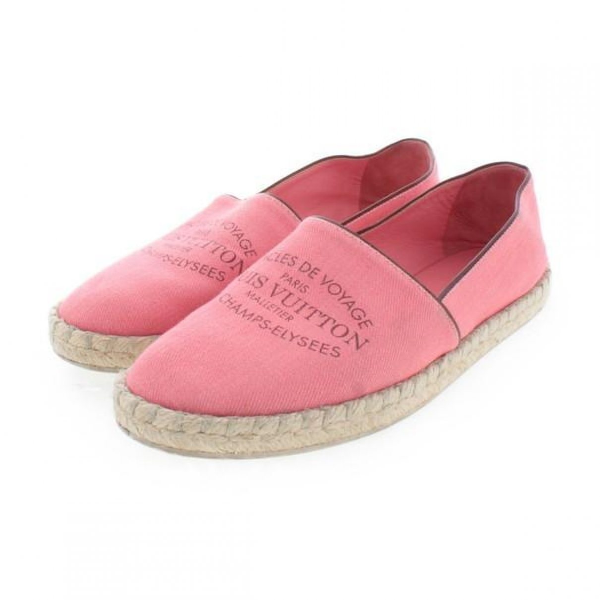 Louis Vuitton \N Espadrilles in  Rosa Leinen