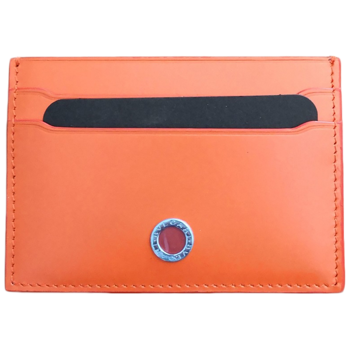 Bvlgari - Petite maroquinerie   pour femme en cuir - orange