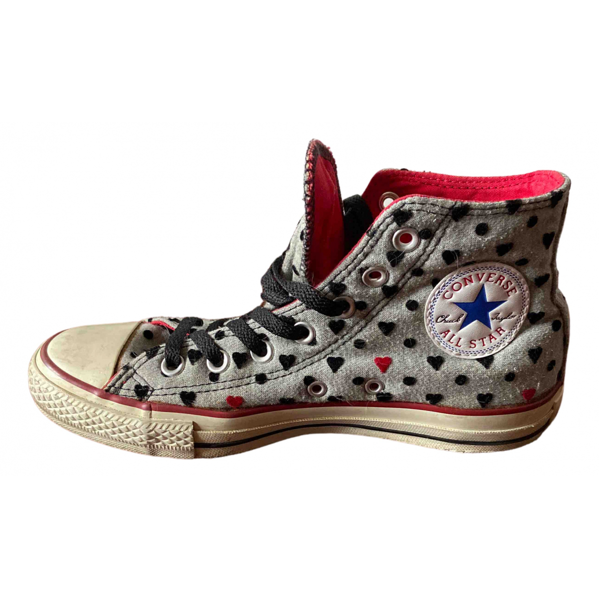 Converse N Grey Cloth Trainers for Women 5.5 UK