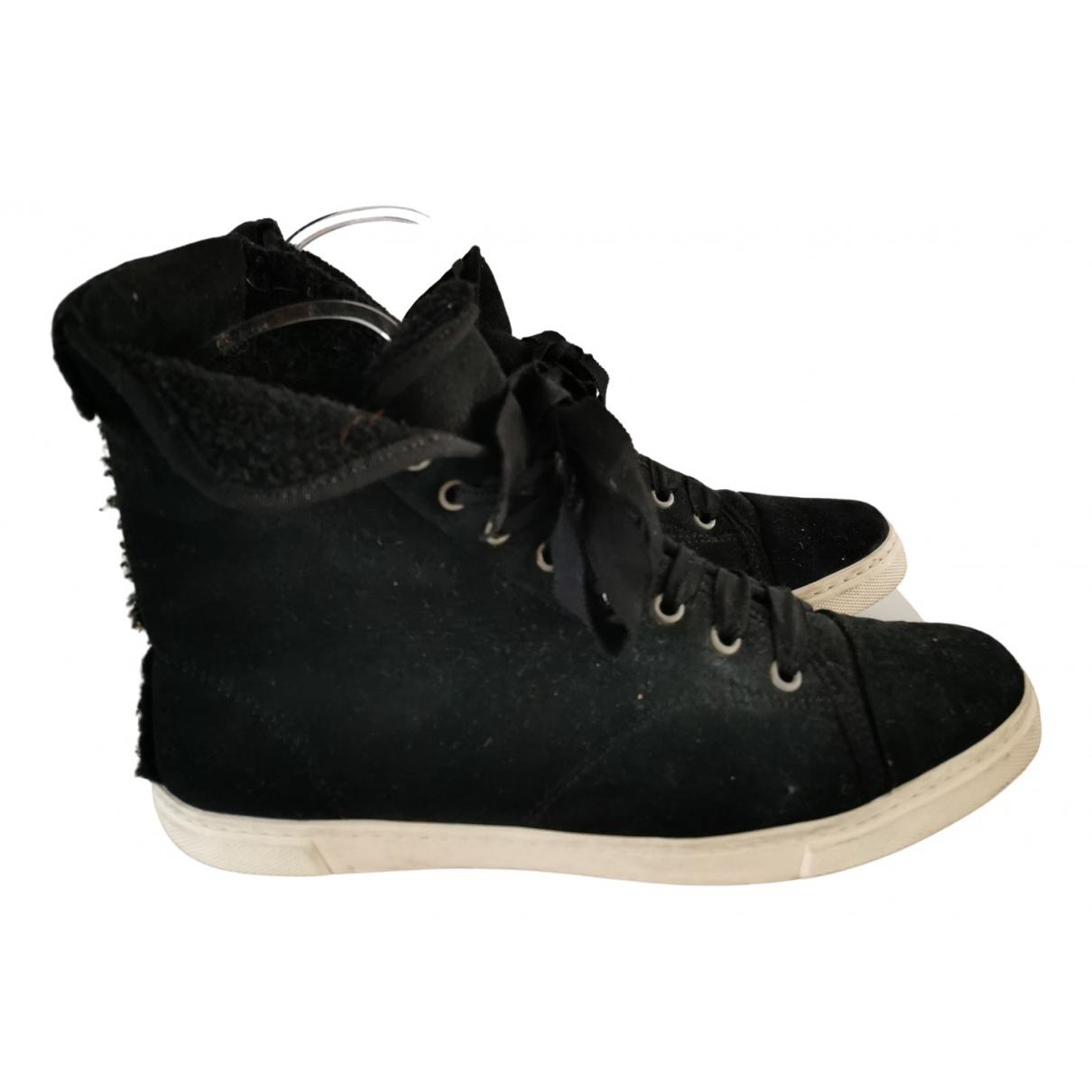 Lanvin \N Sneakers in  Schwarz Schaf