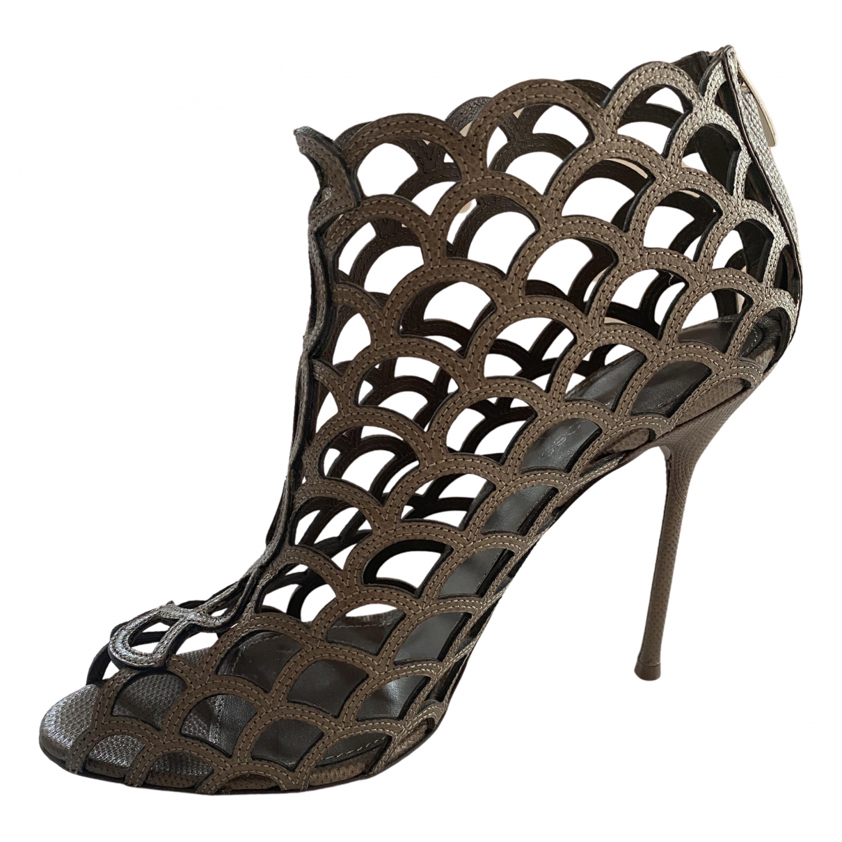 Sergio Rossi N Leather Heels for Women 39 IT
