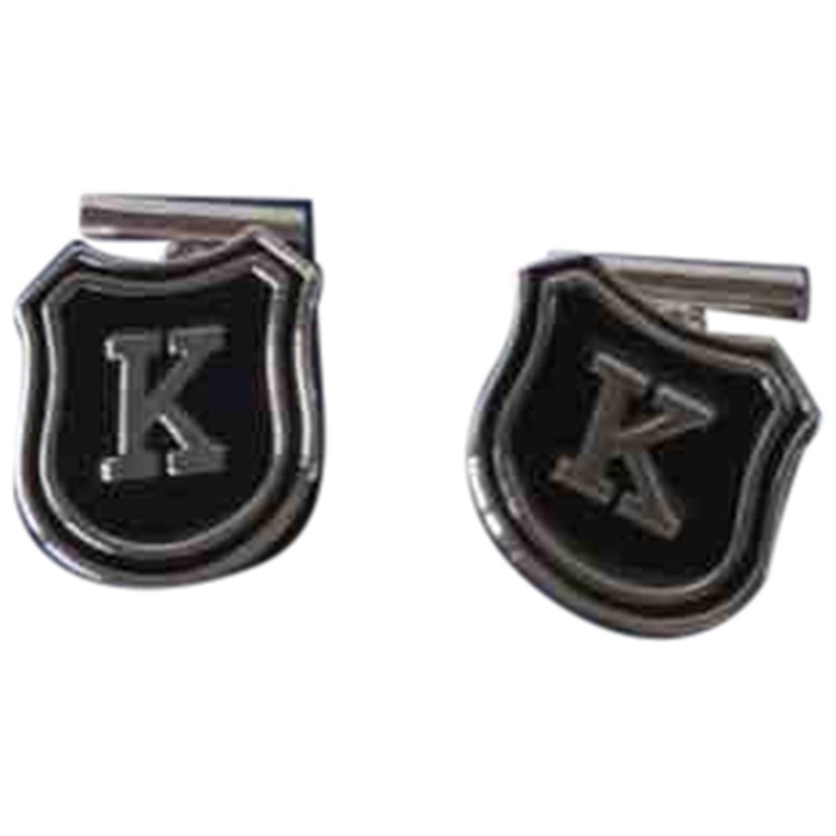 Kenzo - Boutons de manchette   pour homme en metal - argente
