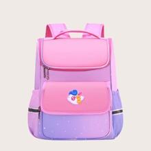 Girls Unicorn Graphic Ombre School Bag