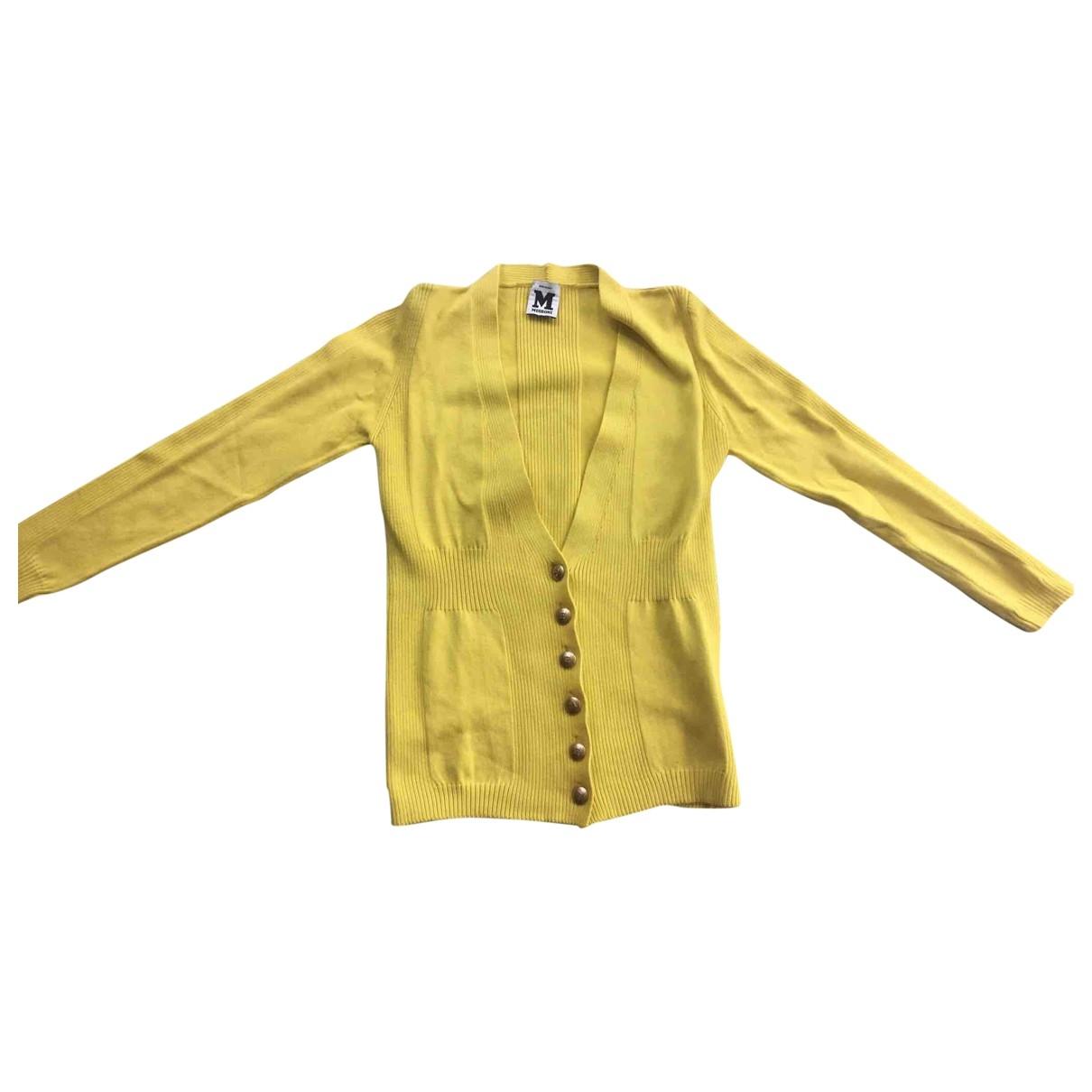 M Missoni - Pull   pour femme en coton - jaune