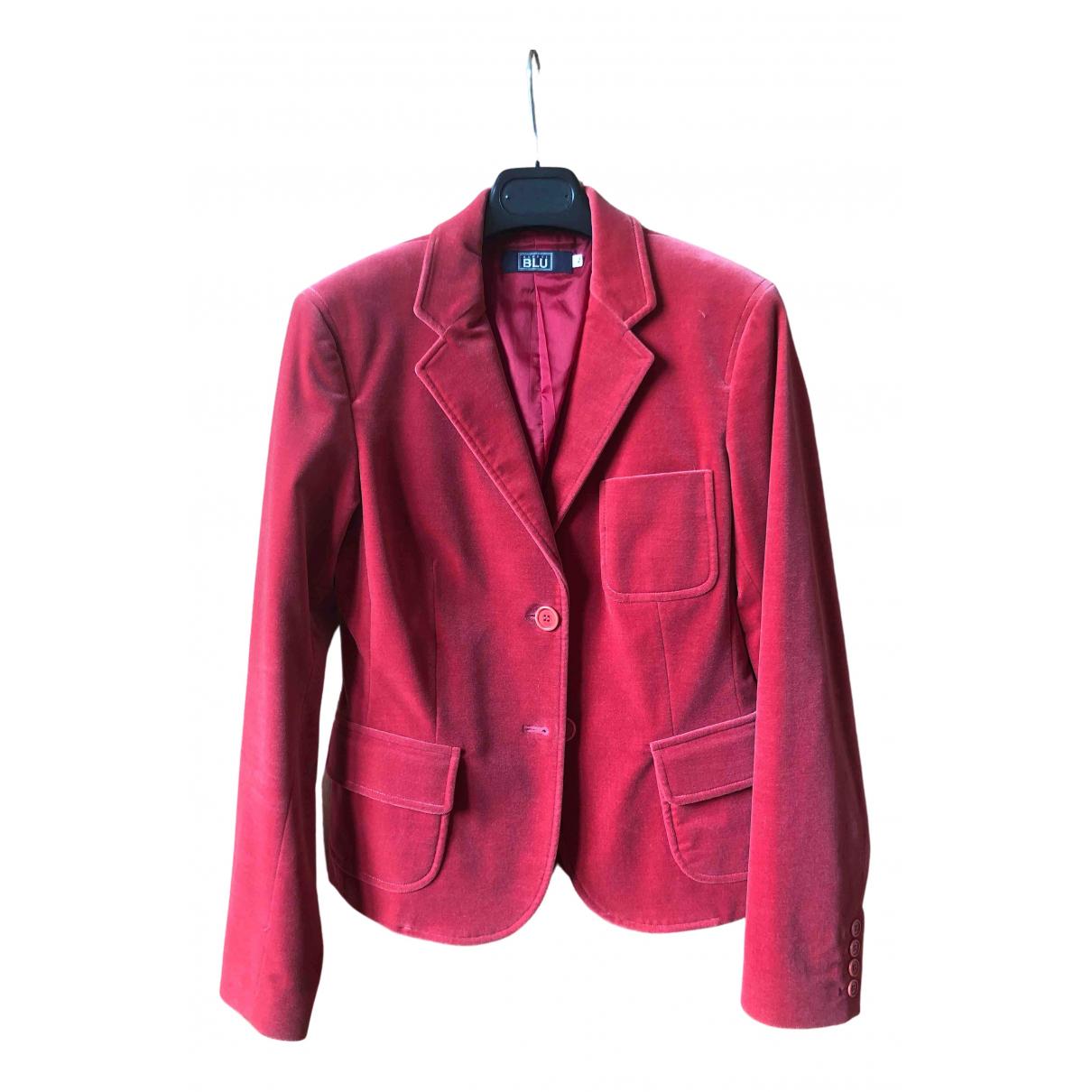 Aspesi - Veste   pour femme en velours - rouge