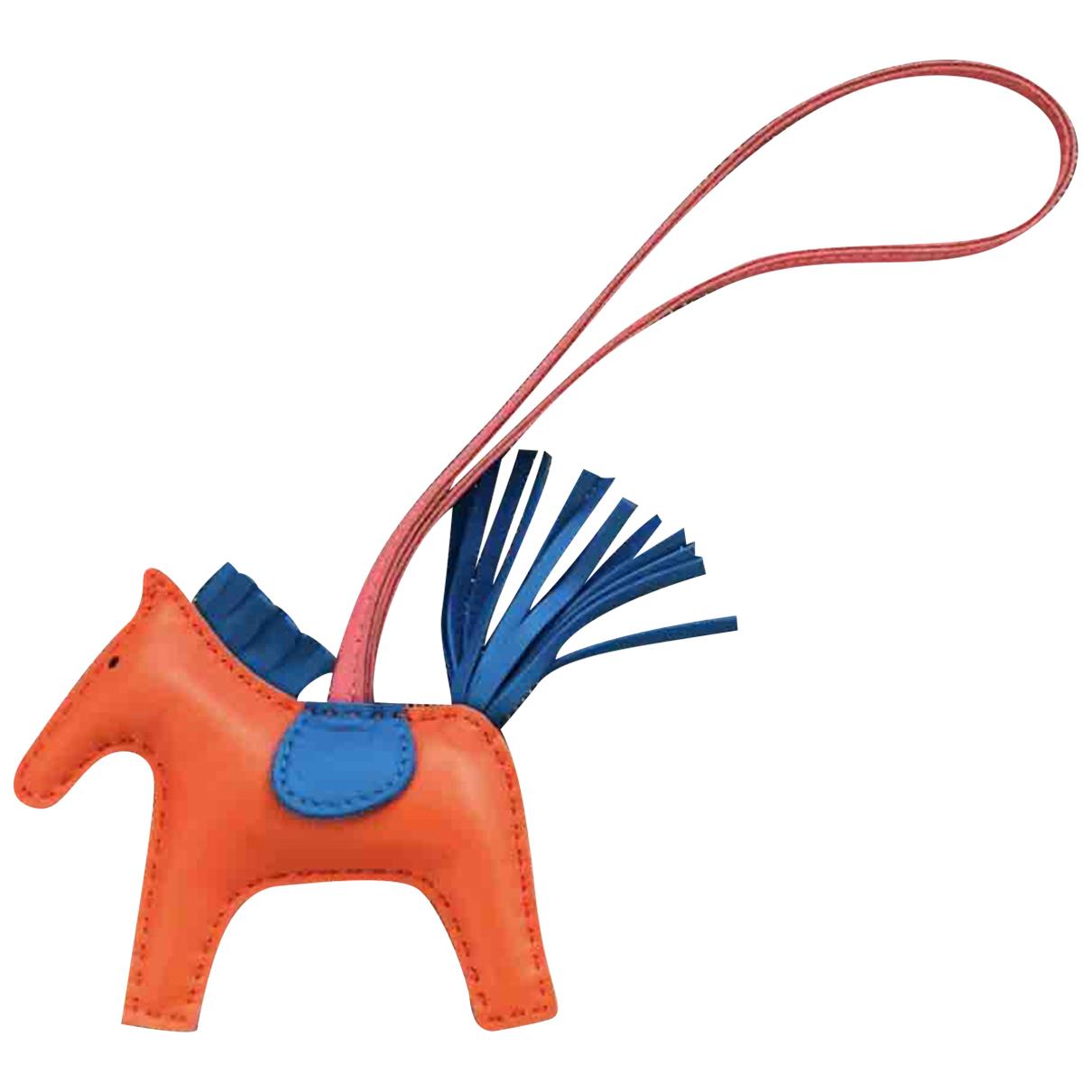 Hermes Rodeo Taschenschmuck in  Orange Leder