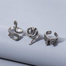 3pcs Serpentine Design Ring