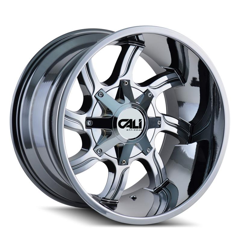 Cali Off-Road 9102-22278C Twisted 9102 Chrome 22x12 8x180 -44mm 124.1mm Wheel