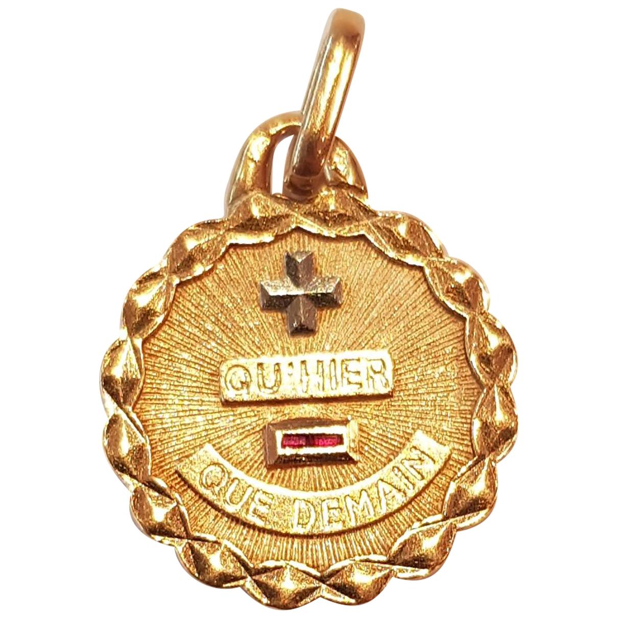 Non Signe / Unsigned Medailles Anhaenger in  Gelb Gelbgold