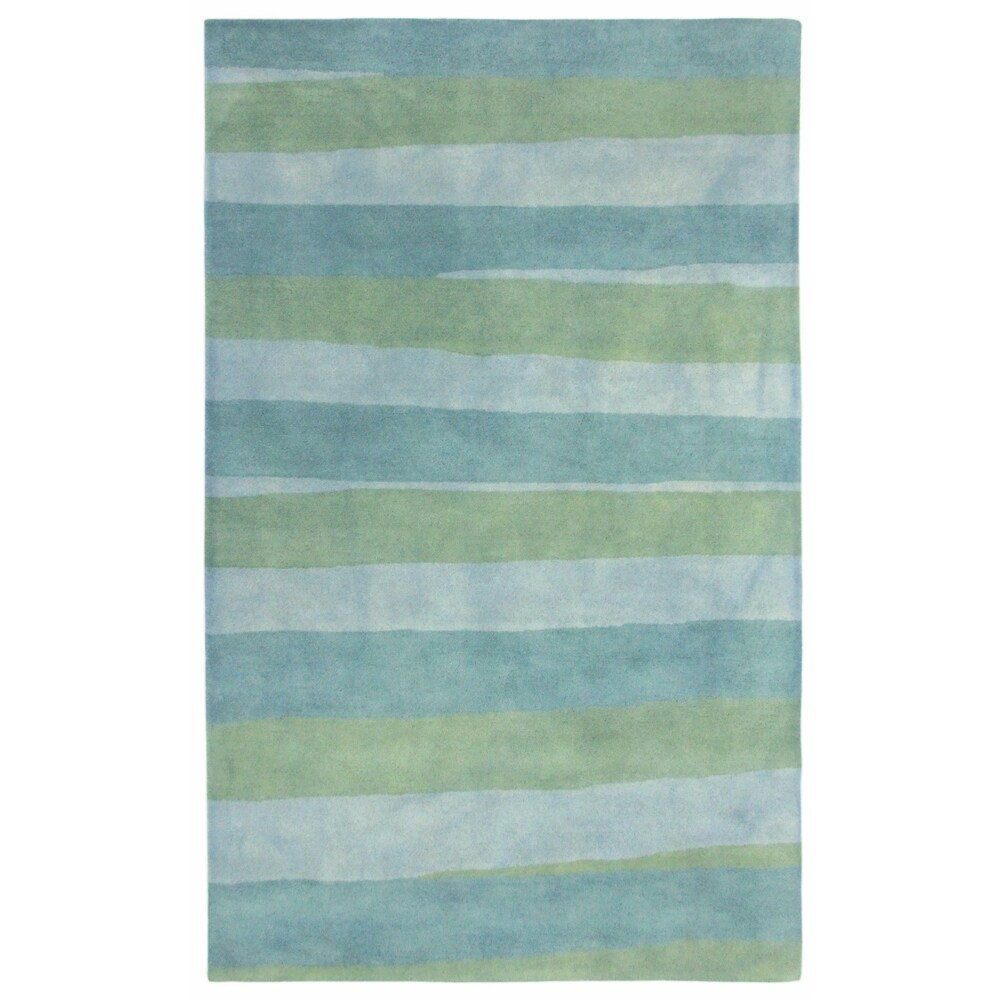 Liora Manne Piazza Stripes Indoor Rug Sea Breeze (8'3