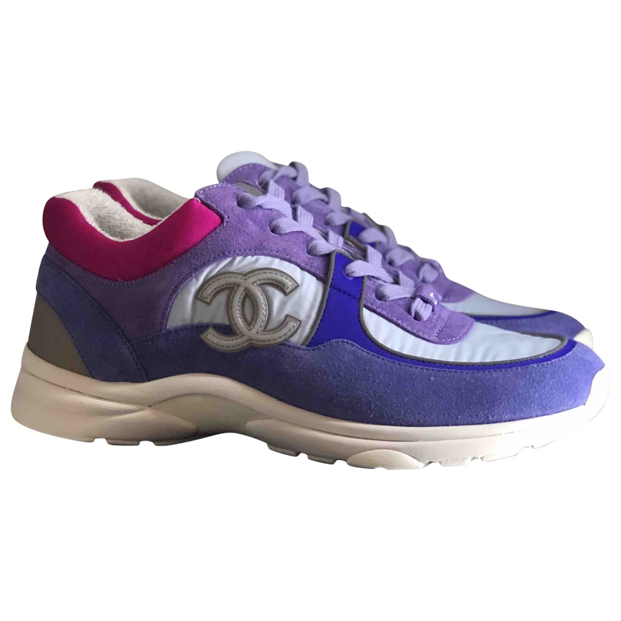 Chanel \N Purple Suede Trainers for Men 42 EU