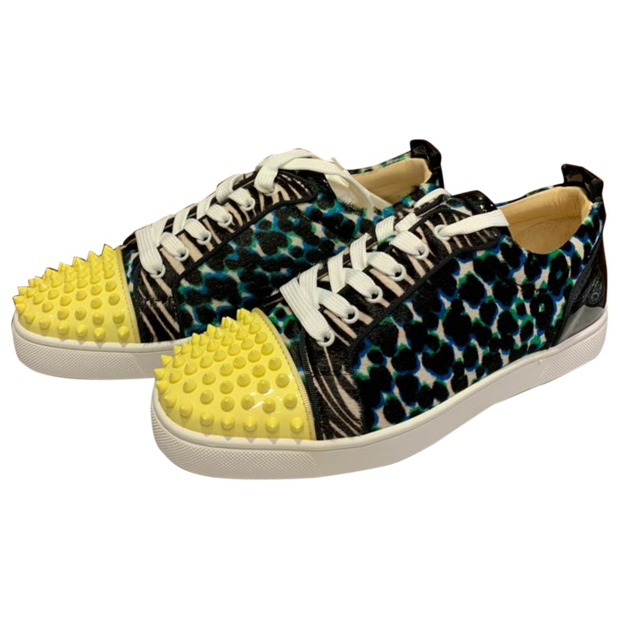Christian Louboutin - Baskets Louis junior spike pour homme en cuir - multicolore