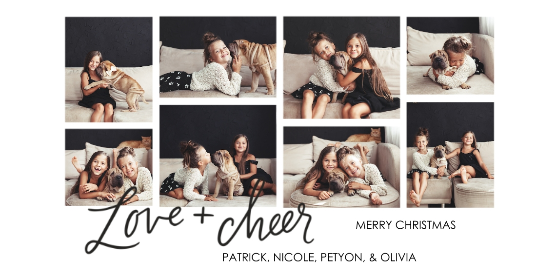 Christmas Photo Cards Flat Glossy Photo Paper Cards with Envelopes, 4x8, Card & Stationery -Minimalist