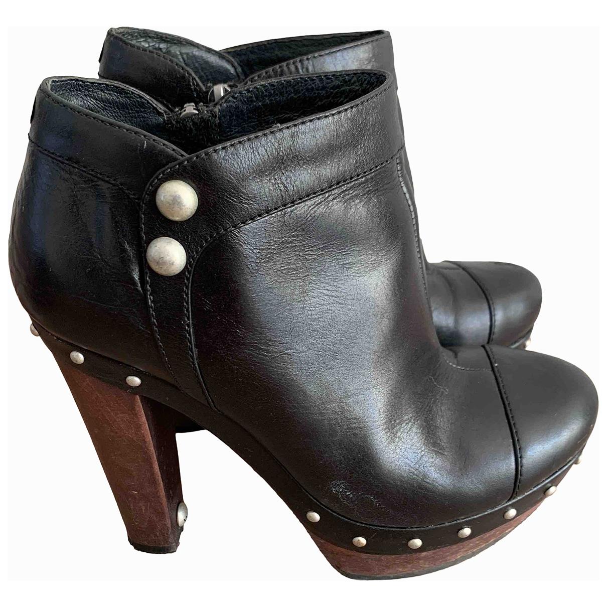Ugg - Escarpins   pour femme en cuir - noir