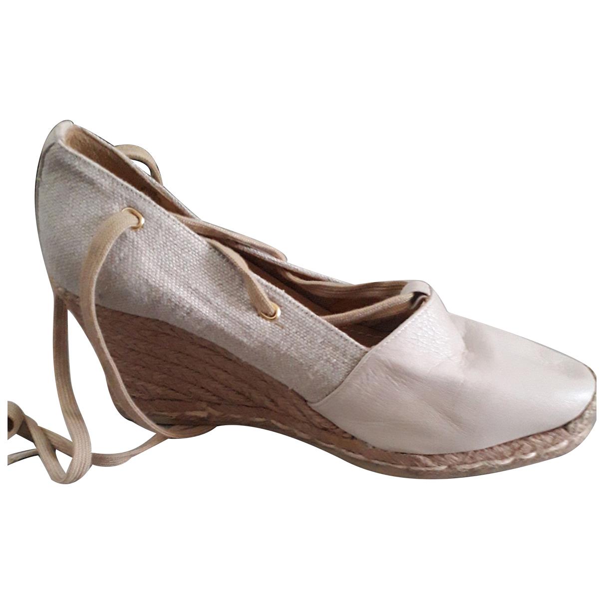 Maliparmi \N Beige Cloth Sandals for Women 37 EU