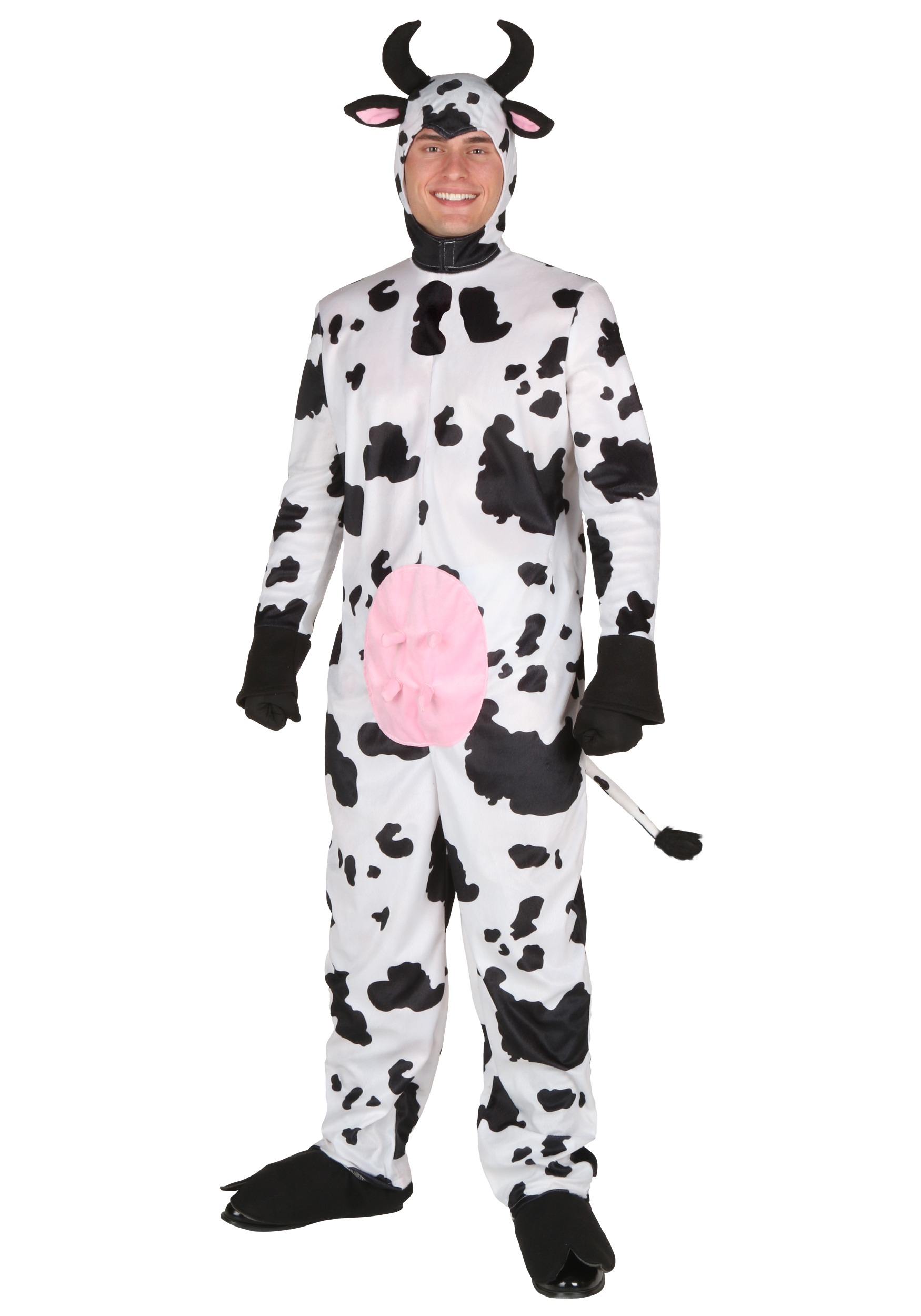 Plus Size Deluxe Cow Costume for Adults