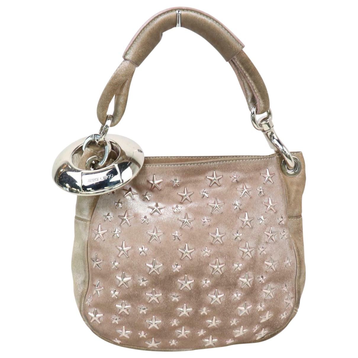 Jimmy Choo \N Handtasche in  Metallic Veloursleder