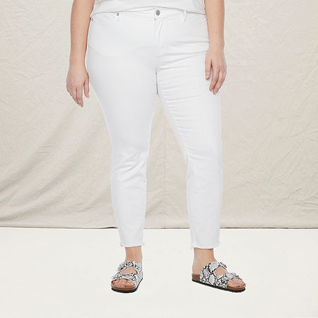 a.n.a-Plus Womens Skinny Jean, 26w , White