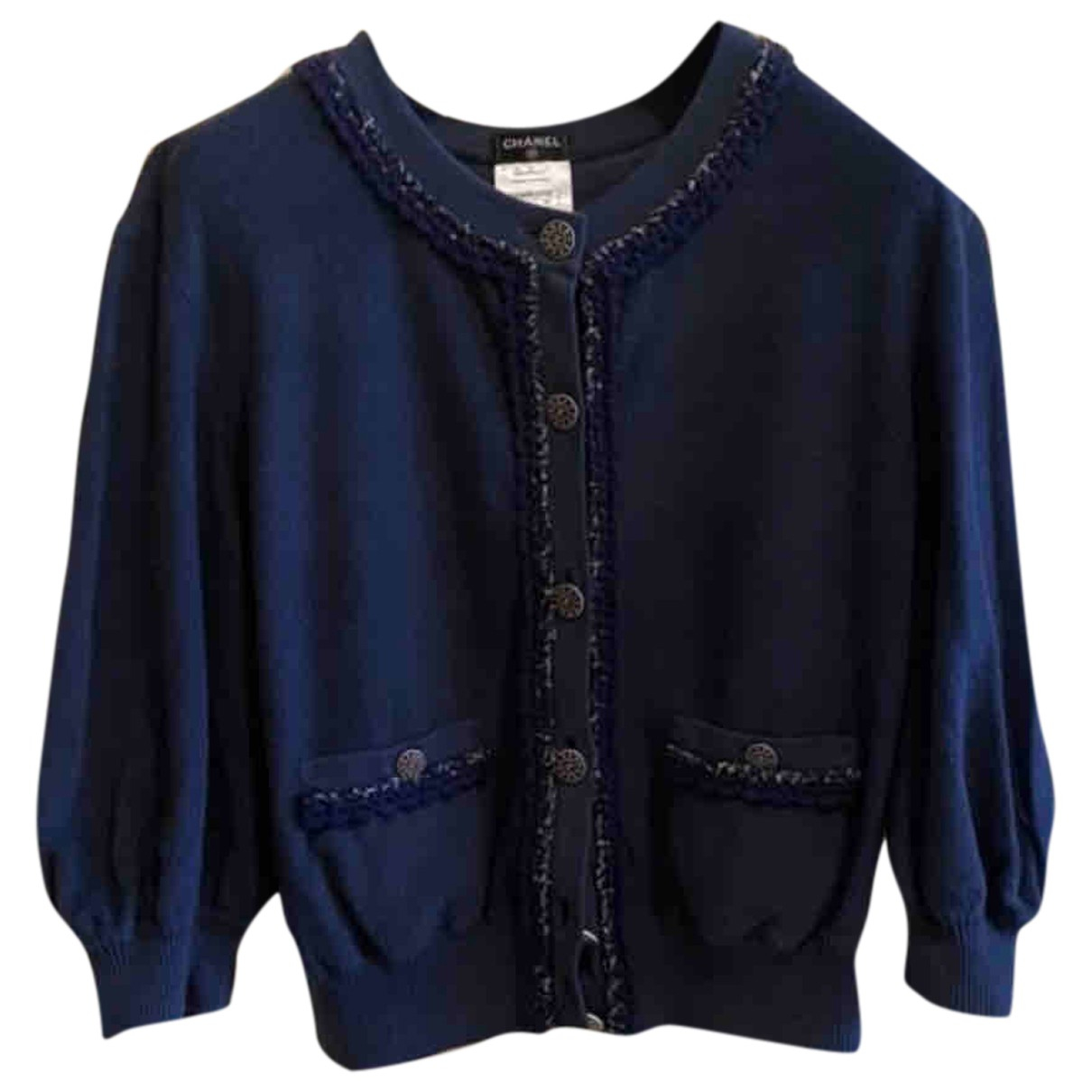 Chanel N Navy Cashmere Knitwear for Women 42 FR