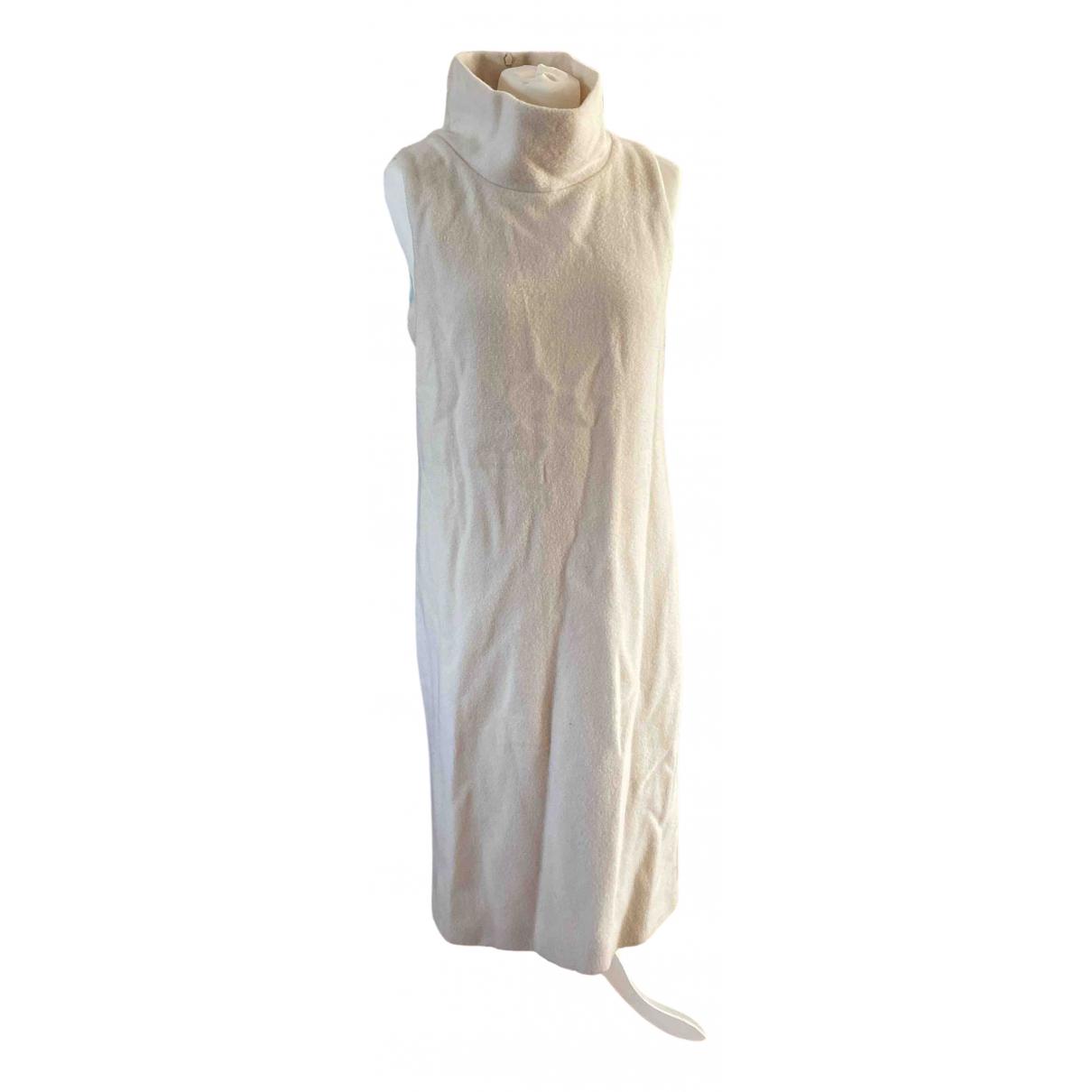 Max Mara \N Kleid in  Weiss Wolle