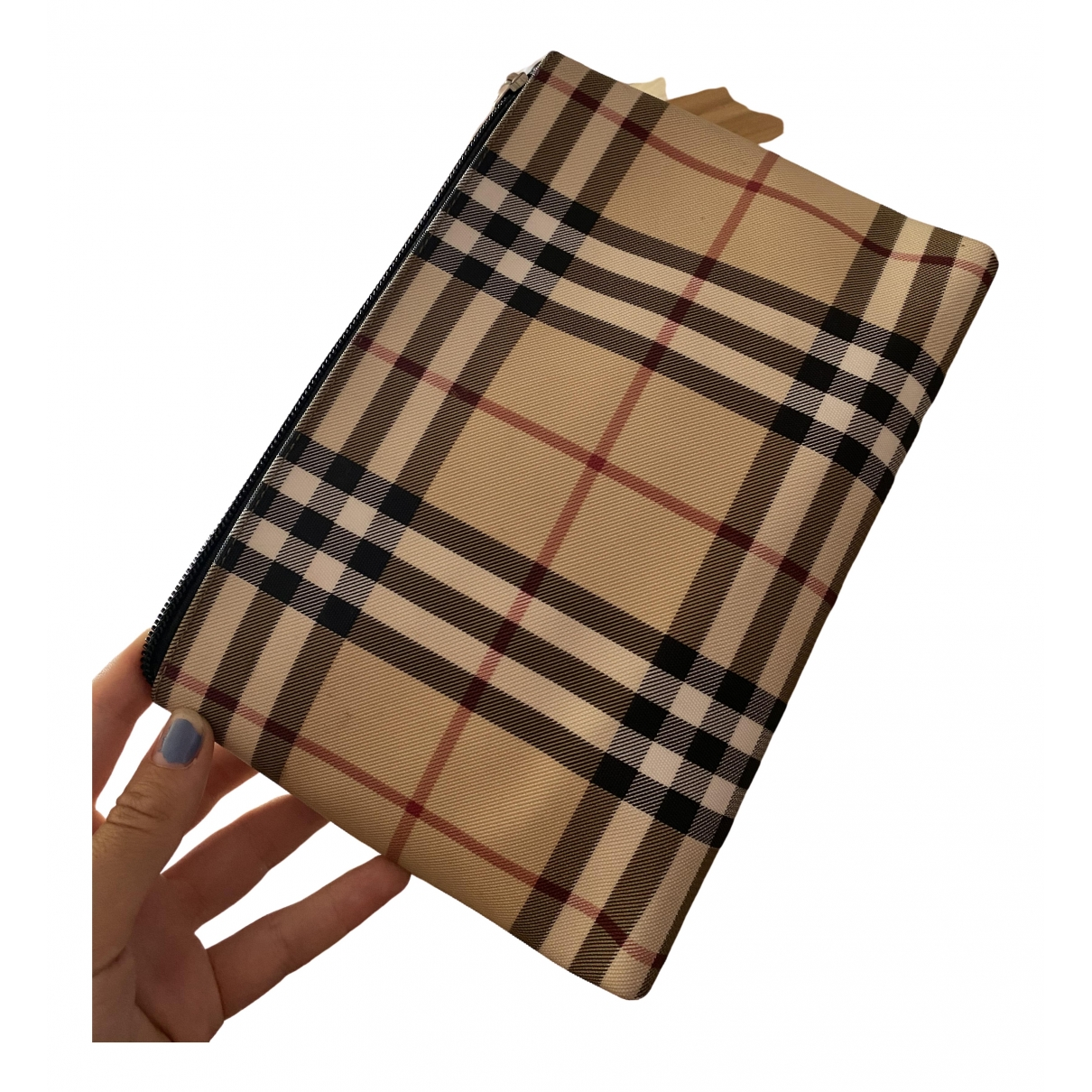 Burberry \N Beige Cloth Clutch bag for Women \N