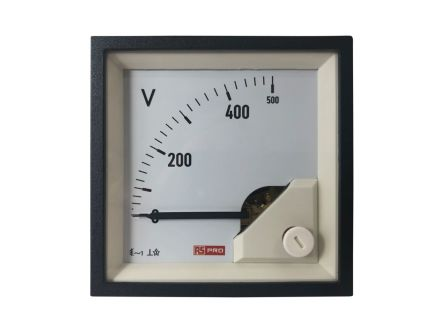 RS PRO Analogue Panel Ammeter AC, 72mm x 72mm, 1 % Moving Iron