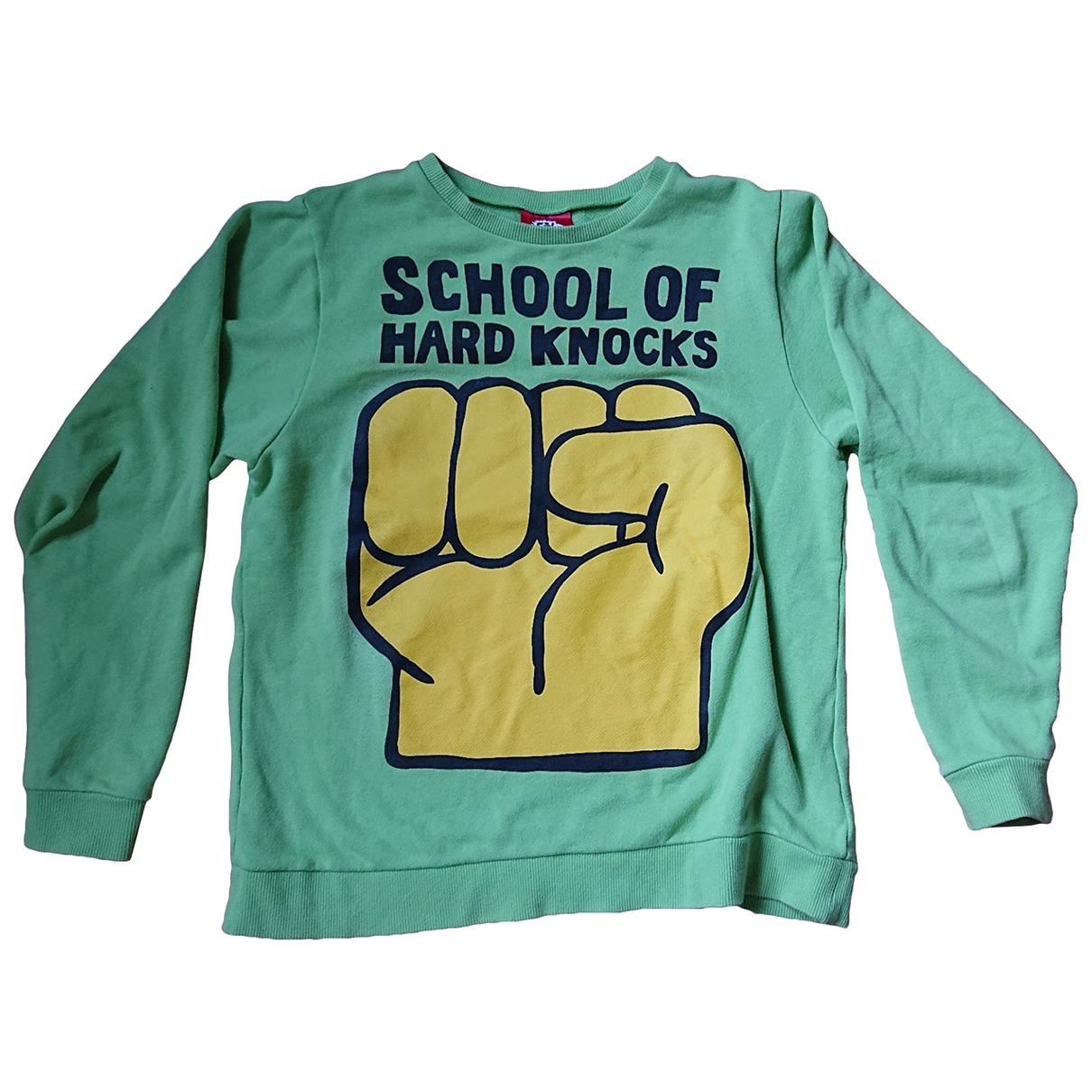 Non Signe / Unsigned \N Pullover.Westen.Sweatshirts  in  Gruen Baumwolle