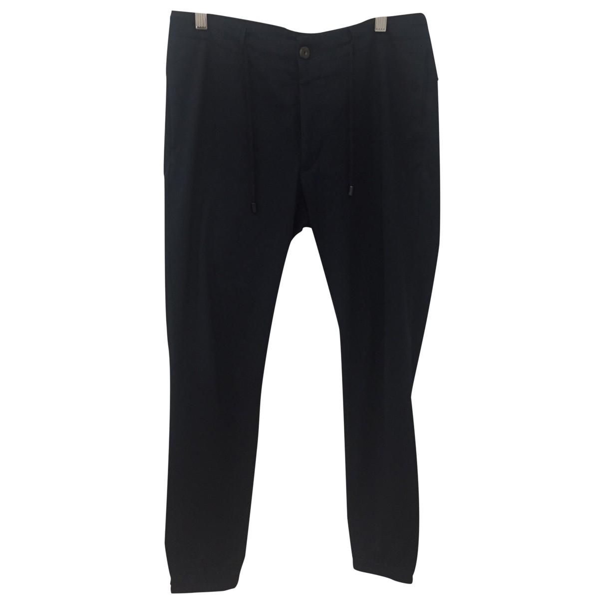 Zara \N Blue Cotton Trousers for Men S International