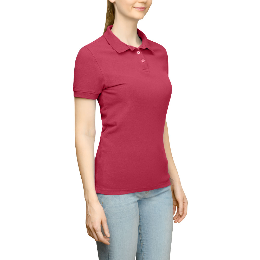 Page & Tuttle Solid Jersey Polo Golf Shirt Red- Womens- Size XXXL