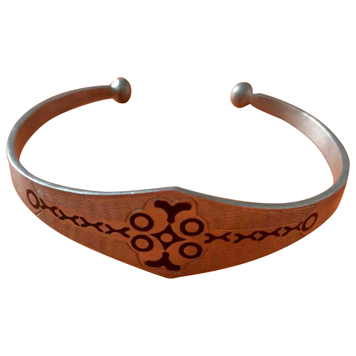 Non Signe / Unsigned Motifs Ethniques Armband in  Silber Silber