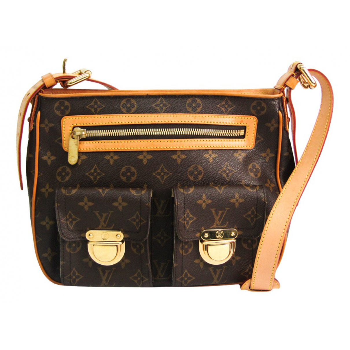 Louis Vuitton Hudson Brown Cloth handbag for Women N
