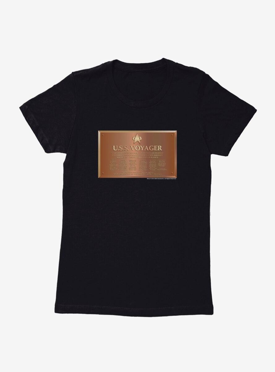 Star Trek U.S.S. Voyager Plaque Womens T-Shirt