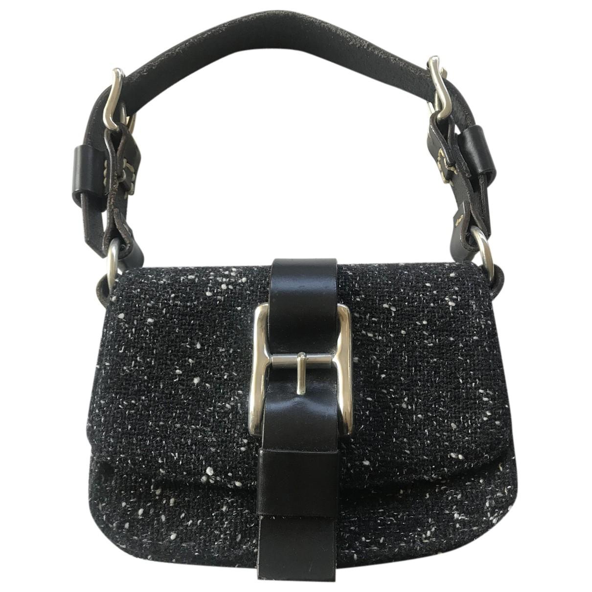 Paco Rabanne \N Handtasche in  Schwarz Leder