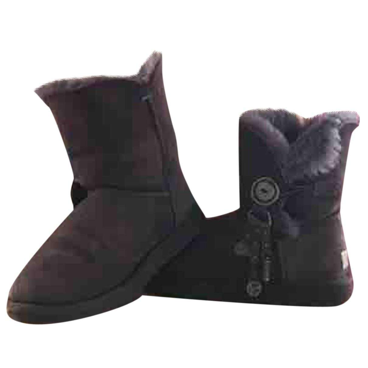 Ugg - Boots   pour femme en fourrure synthetique - violet